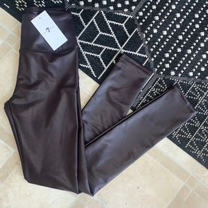 7 for all mankind leather legging